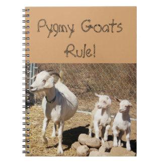 Pygmy Goat Family Spiral Notebooks