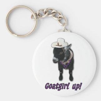 Pygmy Goat Girl Up Keychain