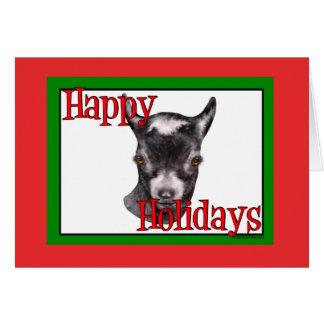 Pygmy Goat Holiday Christmas Greeting Card