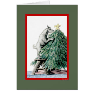 Pygmy Goat Sketch  Christmas Card