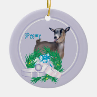 Pygmy Goat Wreath Holiday Ornament