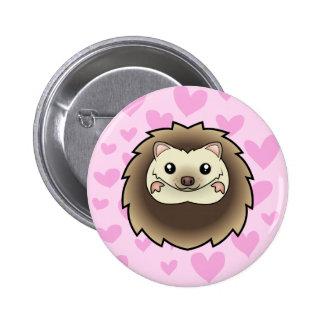 Pygmy Hedgehog Love 6 Cm Round Badge