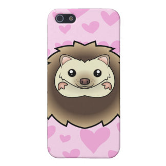 Pygmy Hedgehog Love (add your own background!) iPhone 5/5S Cover