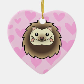 Pygmy Hedgehog Love (add your own message) Christmas Ornament