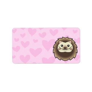 Pygmy Hedgehog Love Label