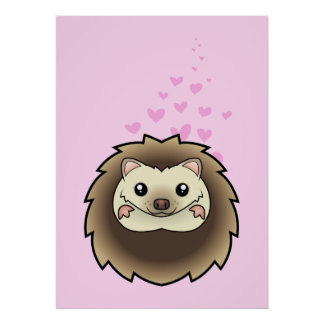 Pygmy Hedgehog Love Poster