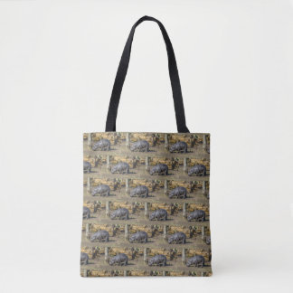 Pygmy hippo at the zoo all-over-print tote bag