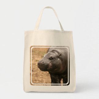 Pygmy Hippo Grocery Tote Bag