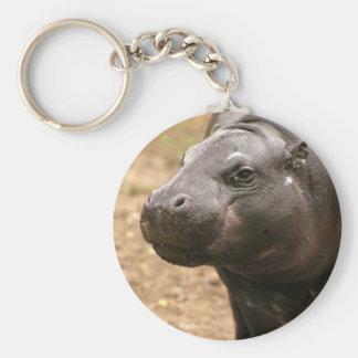 Pygmy Hippo Keychain