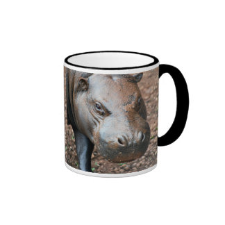 Pygmy Hippo Ringer Mug