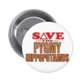 Pygmy Hippopotamus Save 6 Cm Round Badge