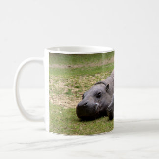 Pygmy hippos basic white mug