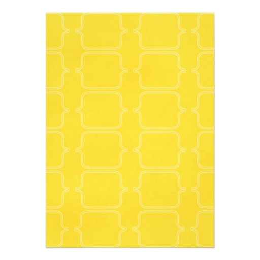PYM BRIGHT YELLOW PATTERN BACKGROUND TEMPLATE TEXT PERSONALIZED INVITE