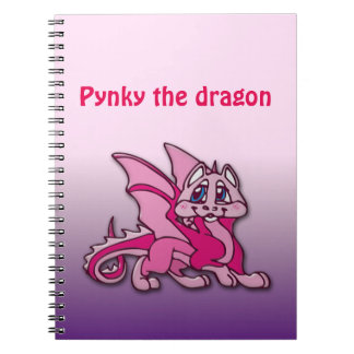Pynky the dragon spiral notebook