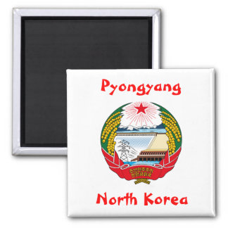 Pyongyang, North Korea Square Magnet