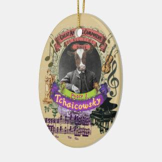Pyotr Tchaicowsky Cow Animal Composer Tchaikovsky Christmas Ornament