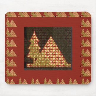 PYRAMID and a TREE Golden UNIQUE Artistic GIFTS Mousepad