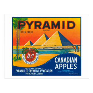 Pyramid Apple Label - Penticton B.C. Canada Postcard