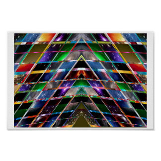 PYRAMID design : CRYSTAL and COSMIC Plates Poster