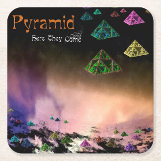 Pyramid - Here They Come Square Paper Coaster
