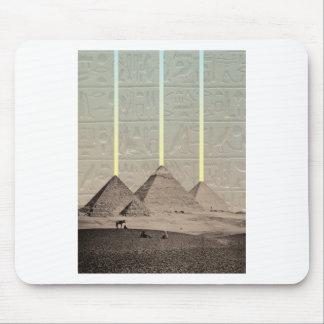 Pyramid Hieroglyph Spotlights Mouse Pad