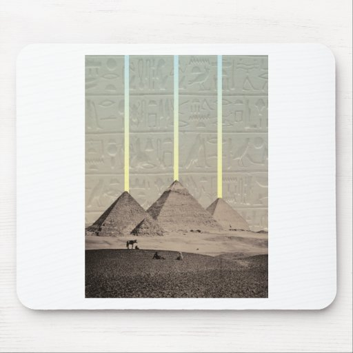 Pyramid Hieroglyph Spotlights Mousepad