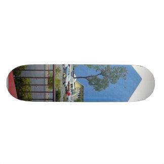 Pyramid In Long Beach Custom Skate Board