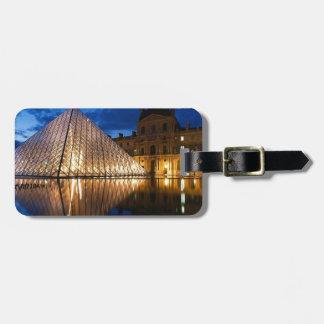 Pyramid in Louvre Museum,Paris,France Bag Tag