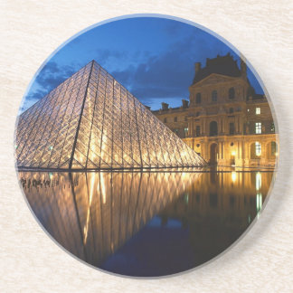 Pyramid in Louvre Museum,Paris,France Coaster
