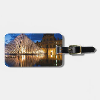 Pyramid in Louvre Museum,Paris,France Luggage Tag