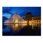 Pyramid in Louvre Museum,Paris,France Postcards