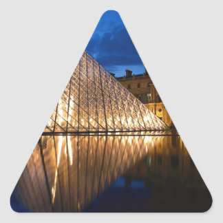Pyramid in Louvre Museum,Paris,France Triangle Sticker