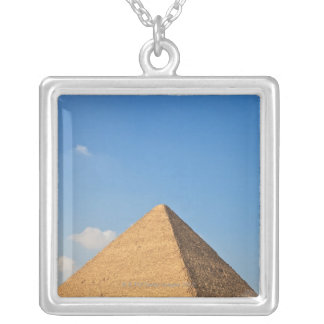 Pyramid of Khufu Silver Plated Necklace