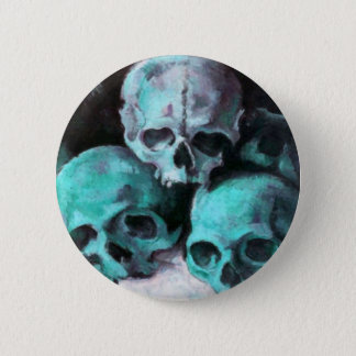 Pyramid of Skulls After Cezanne 6 Cm Round Badge
