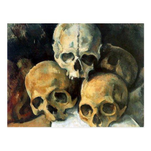 Pyramid of Skulls Paul Cezanne Post Card
