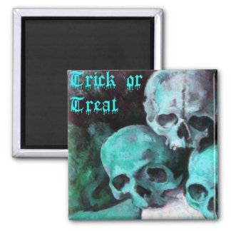 Pyramid of Skulls Square Magnet