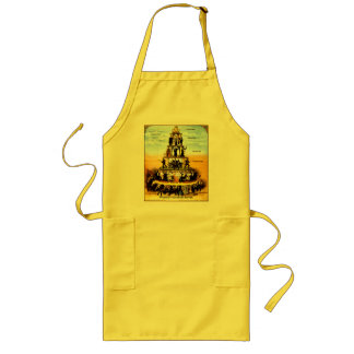 Pyramid Of The Capitalist System (Anti-Capitalism) Long Apron