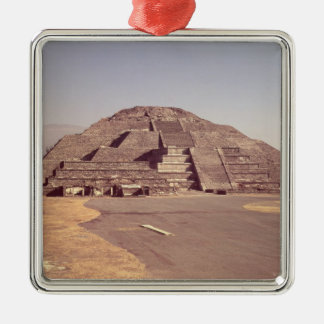 Pyramid of the Moon, built c.100-350 AD Silver-Colored Square Decoration