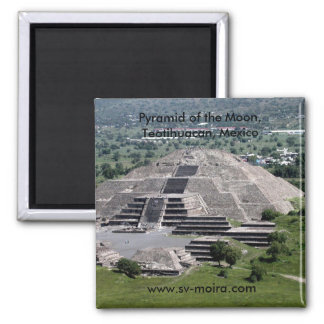 Pyramid of the Moon, Teotihuacan, Mexico Square Magnet