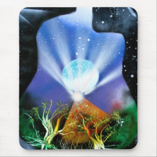 Pyramid Spray Painting with trees acoustic Mouse Pad