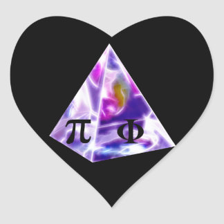 Pyramid symbol Pi and the Golden Ration Heart Sticker