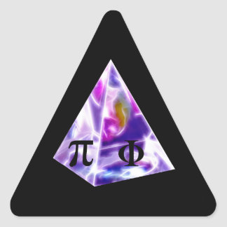 Pyramid symbol Pi and the Golden Ration Triangle Sticker