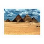 Pyramiden von Gizeh Postkarte