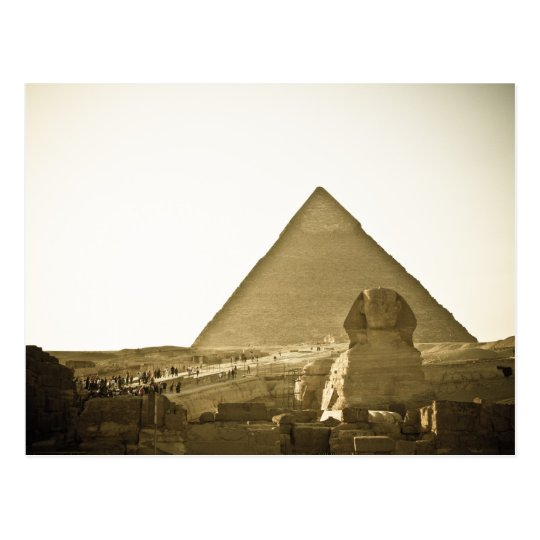 Pyramids at Giza in Cairo, Egypt Postcard