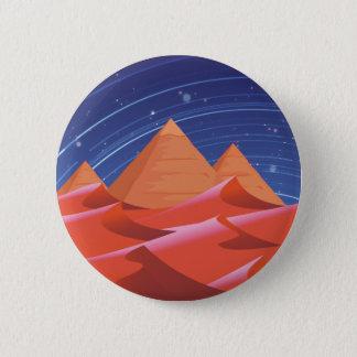 Pyramids at night under the stars 6 cm round badge