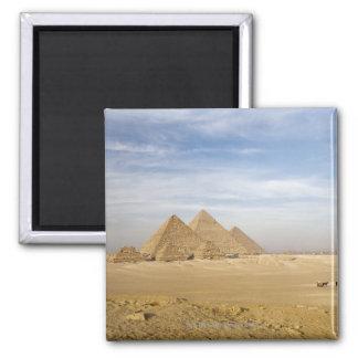 Pyramids Cairo, Egypt Square Magnet