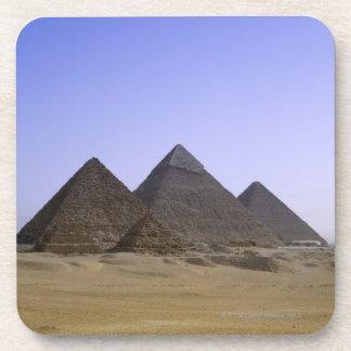 Pyramids in desert Cairo, Egypt Coaster