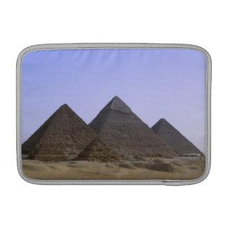 Pyramids in desert Cairo, Egypt MacBook Sleeve