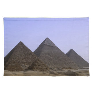 Pyramids in desert Cairo, Egypt Placemats
