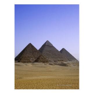 Pyramids in desert Cairo, Egypt Postcard